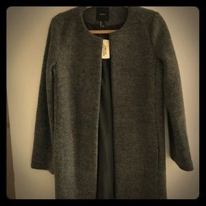 Dark Grey Boucle Jacket. NWT